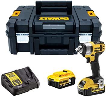 Llave Impacto XR 18V, con 2 baterías 5Ah y maletín
